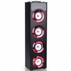 Torre de Som Z8Box Bluetooth 40W Led Vermelho (76cm)