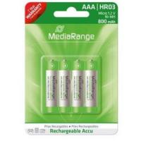 Pilhas MediaRange Recarregáveis AAA | HR03 1.2V - Pack 4